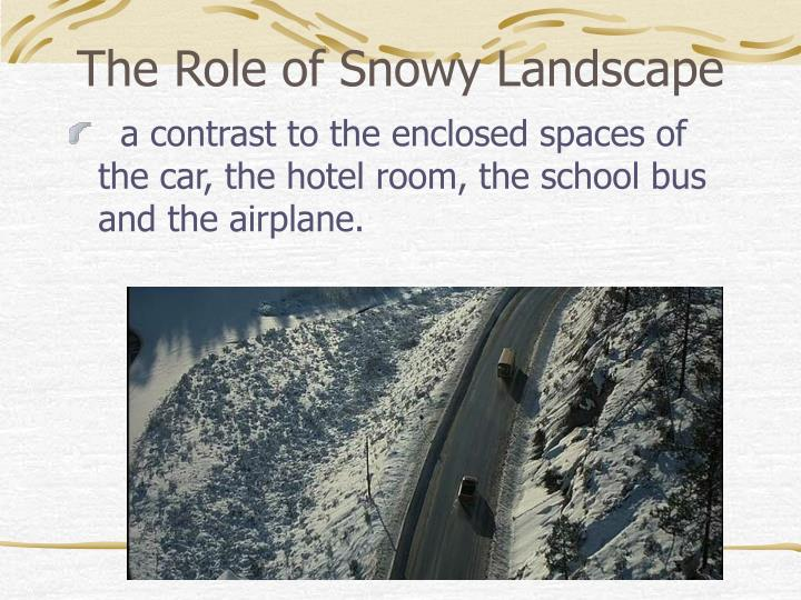 The Role of Snowy Landscape