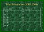 print penetration nrs 2003