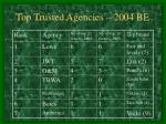 top trusted agencies 2004 be