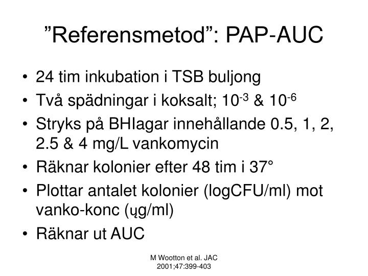 """Referensmetod"": PAP-AUC"