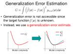 generalization error estimation