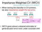 importance weighted cv iwcv