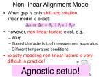 non linear alignment model