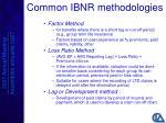 common ibnr methodologies