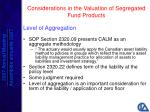 considerations in the valuation of segregated fund products17
