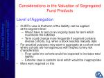considerations in the valuation of segregated fund products18
