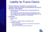 liability for future claims