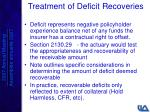 treatment of deficit recoveries