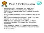 plans implementation