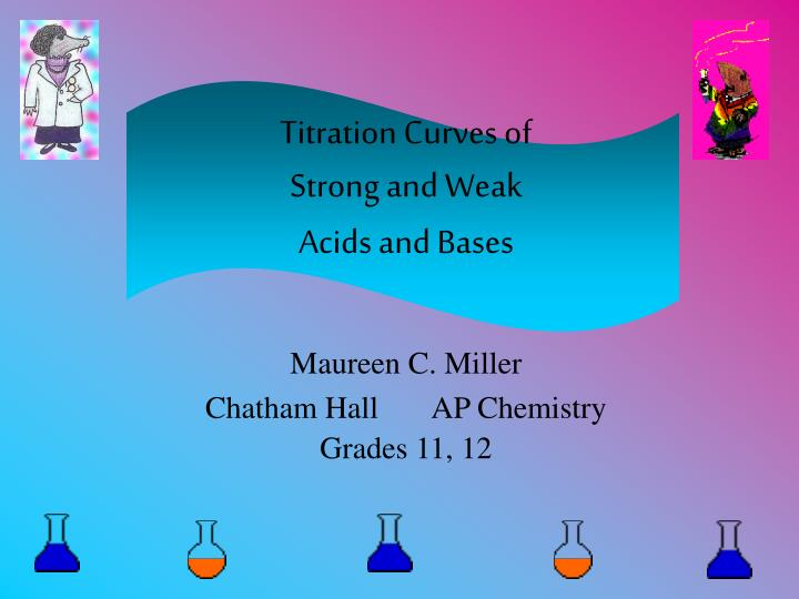 titration curves of strong and weak acids and bases n.
