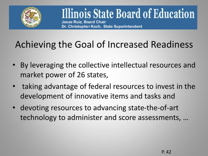 Achieving the Goal of Increased Readiness