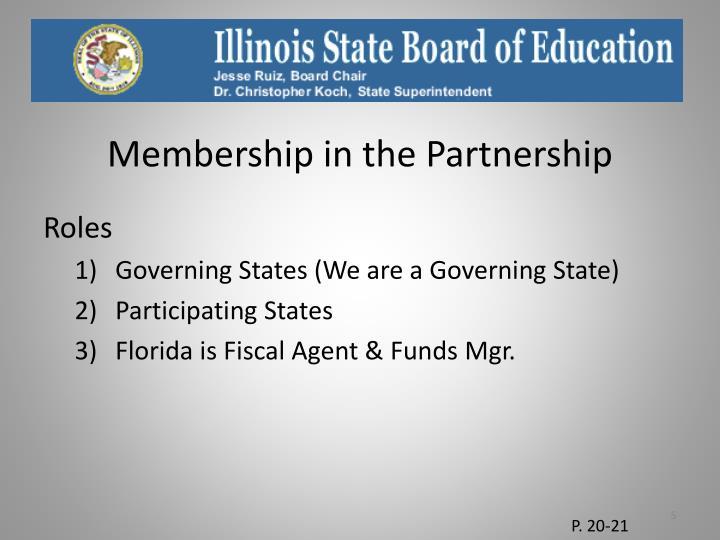 Membership in the Partnership