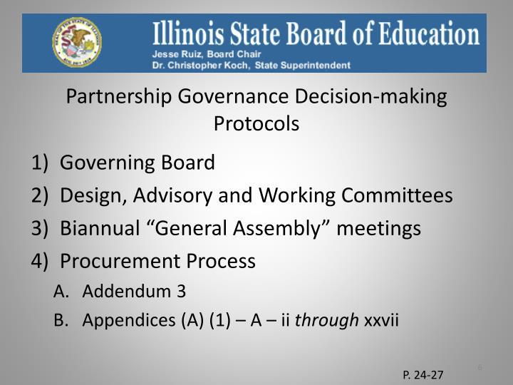Partnership Governance Decision-making Protocols