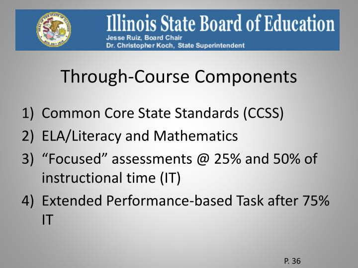 Through-Course Components