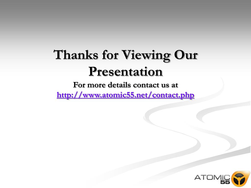 Thanks for Viewing Our Presentation