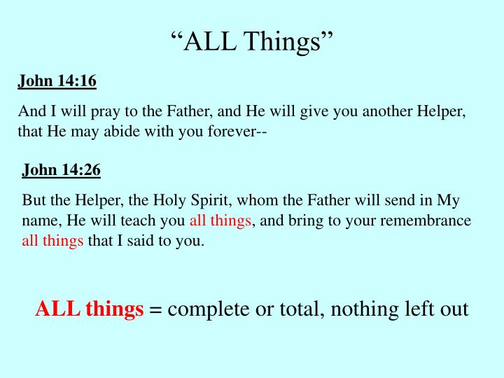 """""""ALL Things"""""""