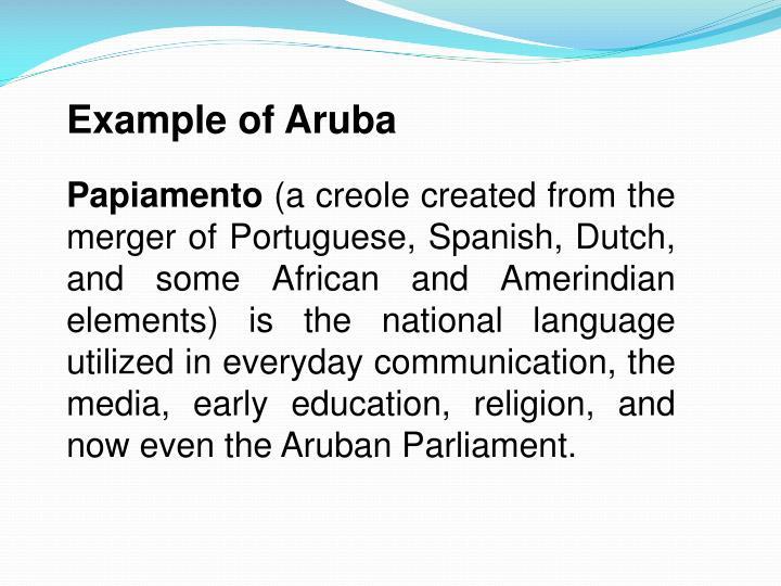 Example of Aruba