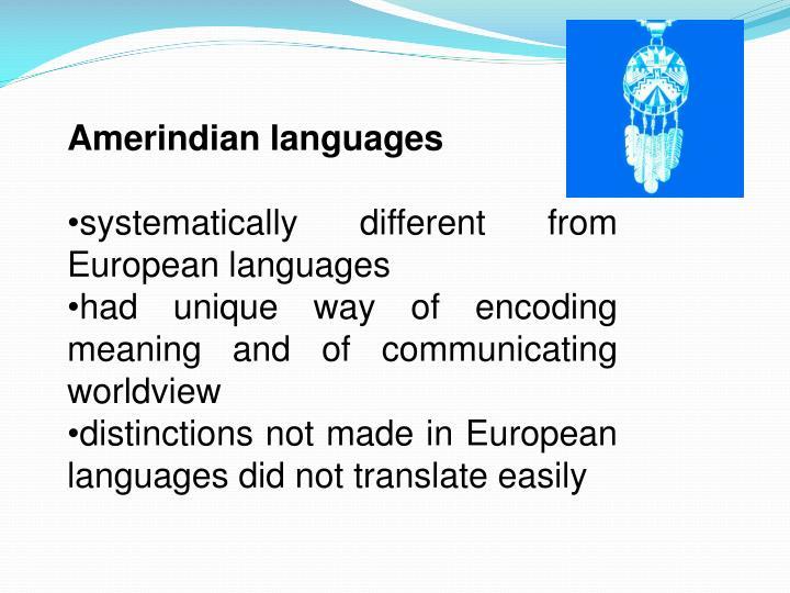 Amerindian languages