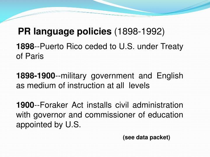 PR language policies