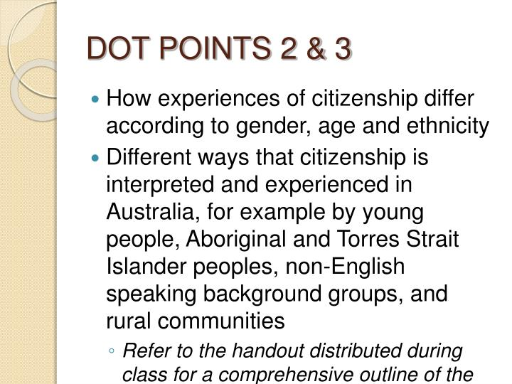 dot points 2 3