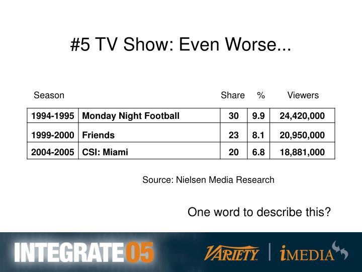 #5 TV Show: Even Worse...