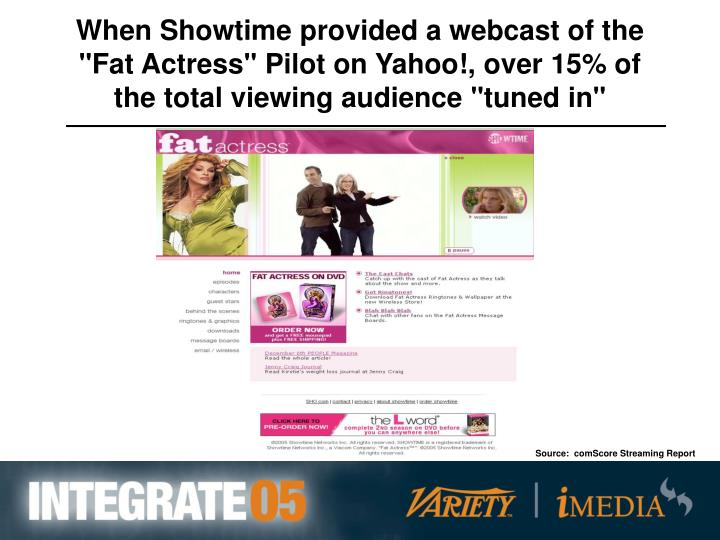 When Showtime provided a webcast of the