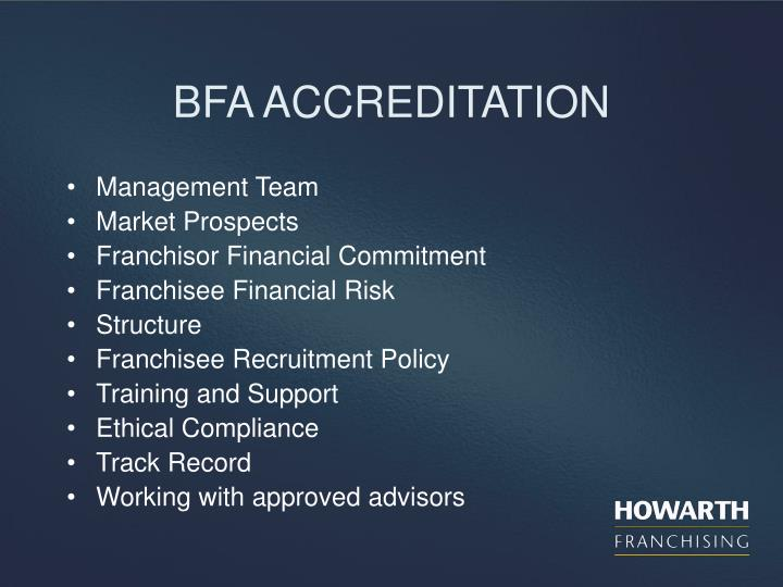 BFA ACCREDITATION
