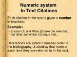 numeric system in text citations