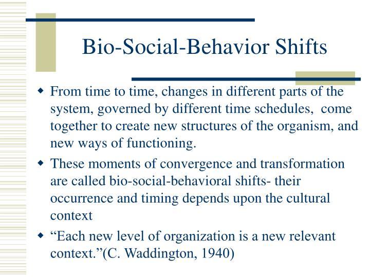 Bio-Social-Behavior Shifts