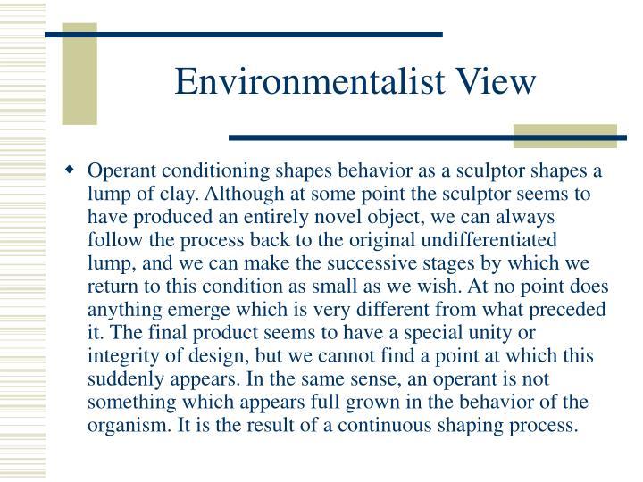 Environmentalist View