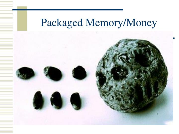 Packaged Memory/Money