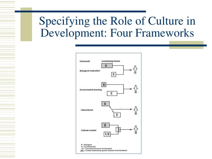 Specifying the Role of Culture in Development: Four Frameworks