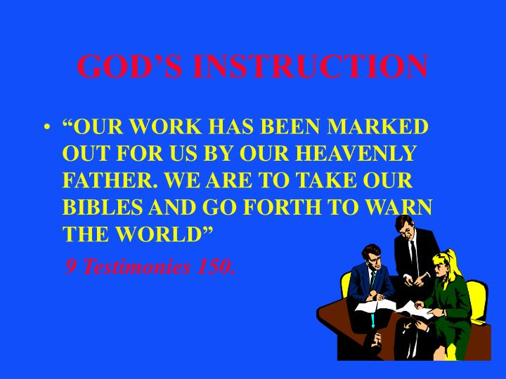 God s instruction