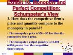 exhibit 16 monopoly and perfect competition schumpeter s view