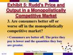 exhibit 5 rudd s price and output in a monopolistically competitive market2