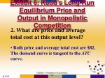 exhibit 6 rudd s long run equilibrium price and output in monopolistic competition1