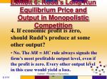 exhibit 6 rudd s long run equilibrium price and output in monopolistic competition3