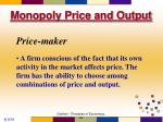 monopoly price and output1