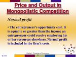 price and output in monopolistic competition2