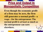 price and output in monopolistic competition3