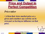 price and output in perfect competition1