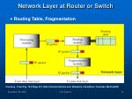 network layer at router or switch