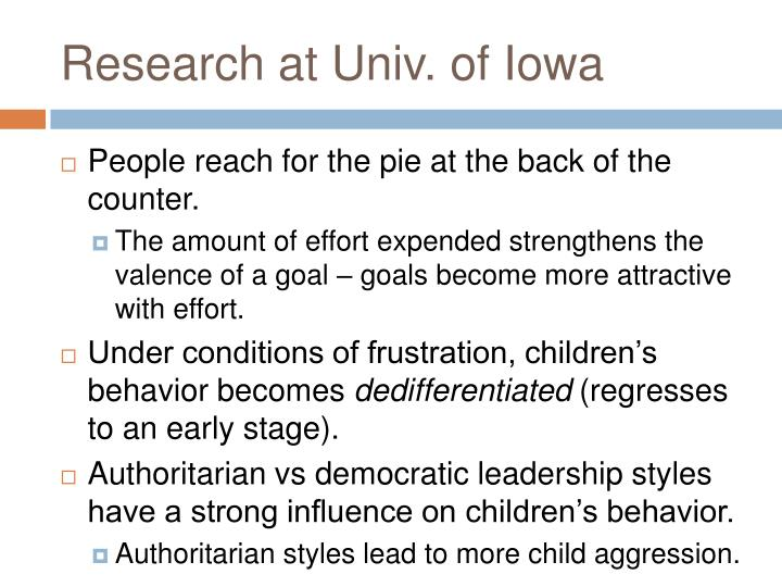 Research at Univ. of Iowa