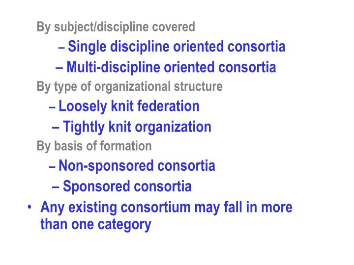 By subject/discipline covered