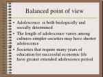 balanced point of view