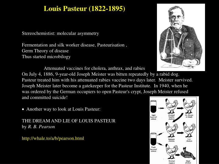 Louis Pasteur (1822-1895)