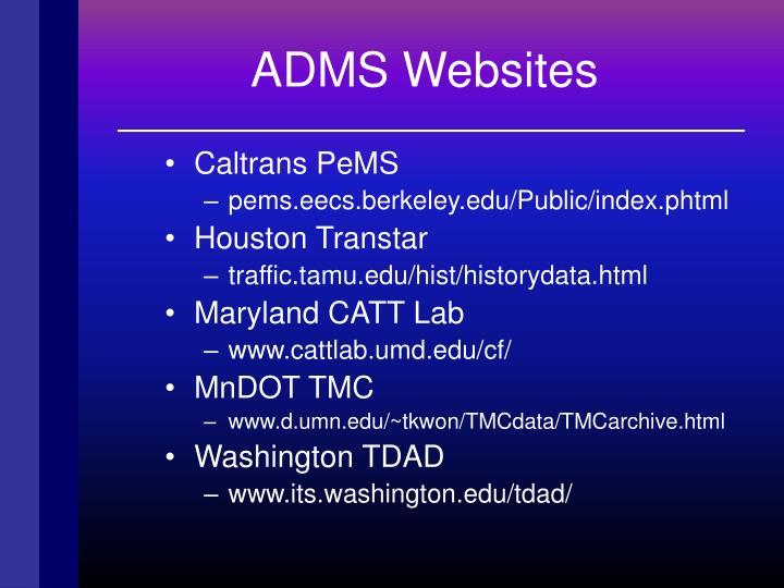 ADMS Websites