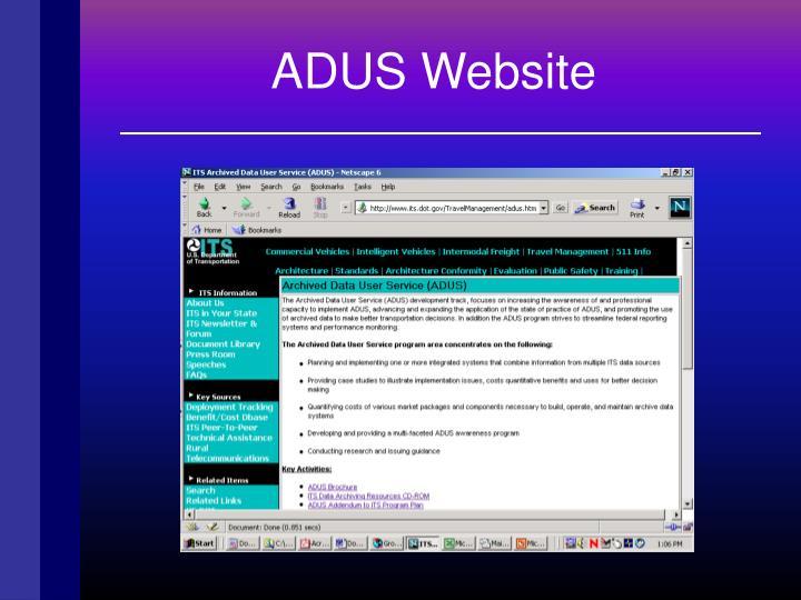 ADUS Website