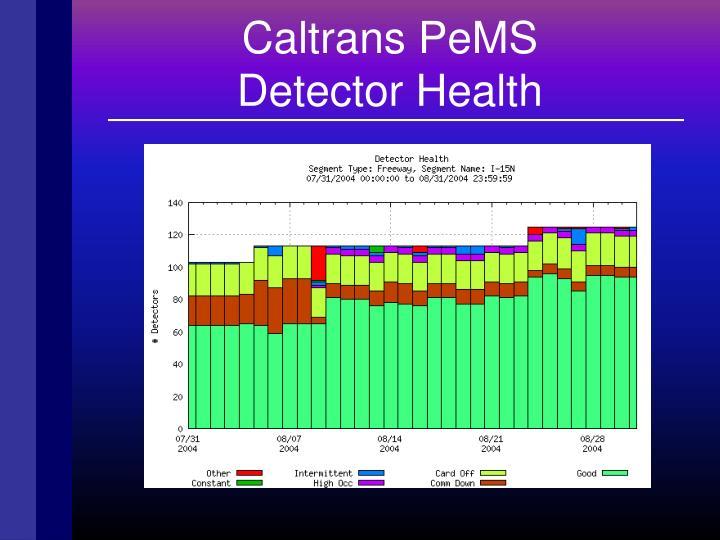 Caltrans PeMS