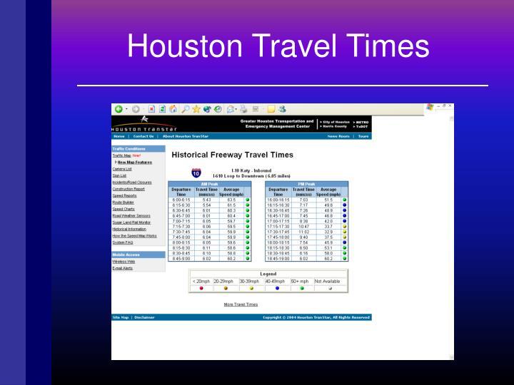 Houston Travel Times